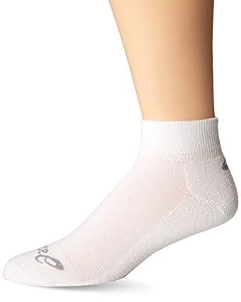 ASICS Men's Cushion Quarter Pack Socks, Medium, White (Pack of Three)