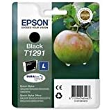 Epson Genuine T1291 Black Ink Cartridge - Epson T1291 black ink cartridge (Apple)