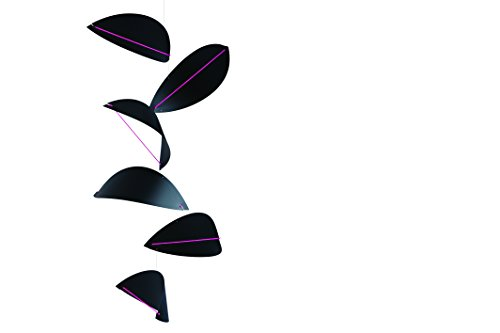 Kites Black Mobile by Flensted - 32-Inches - High Quality Plastic - Handmade in Denmark