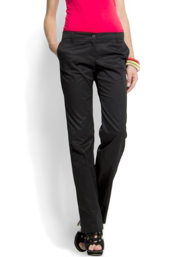 Mango Women's Straight-leg Chino Trousers, 14, Black