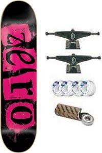 Zero Skateboard: Punk - 7.75 Black/Pink Veneer w/Mini Logo Wheels