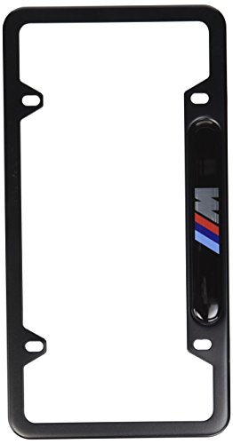 BMW Black Stainless Steel License Frame with M Logo (Bmw M Sport License Plate Frame compare prices)