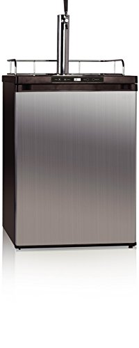 midea HS-209BESS Beer/Beverage Refrigerator and Dispenser, 5.7 Cubic Feet, Stainless Steel