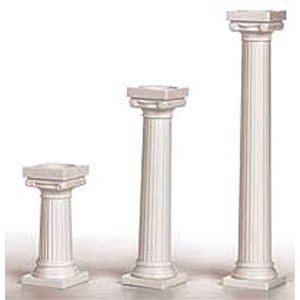 """Wilton W3703 5"""" Grecian Pillars 4/Pkg - White"""