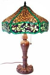 tiffany style chocolate table lamp lamps bases shades amazon. Black Bedroom Furniture Sets. Home Design Ideas