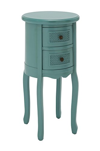 Deco 79 Wood Turquoise Night Stand, 16 by 29-Inch