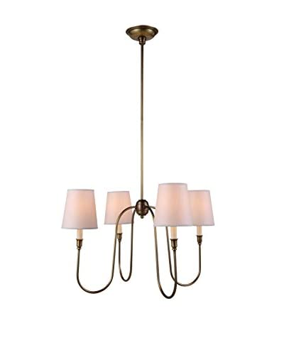 Urban Lights Lancaster 4-Light Pendant Lamp, Antique Bronze