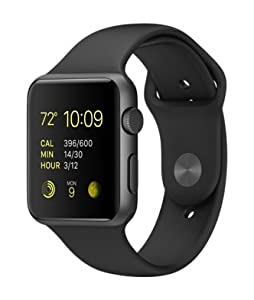Apple Watch Sports Space Grey Aluminium Case UK Model (42mm, Black)