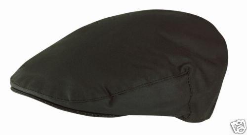 Jaxon Hats Oilcloth Newsboy Cap Black