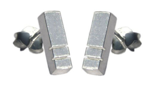 Handmade 925 Sterling Silver Bar Studs / Stud Earrings - FREE Delivery in UK - Gift Wrapped - Gifts