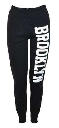 (womens brooklyn cuffed joggers) (mtc) femmes brooklyn menottées joggeurs (36/38 (uk 8/10), (black) noir)