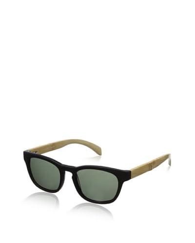 Ivory + Mason Men's Bond Sunglasses, Matte Black/Bamboo