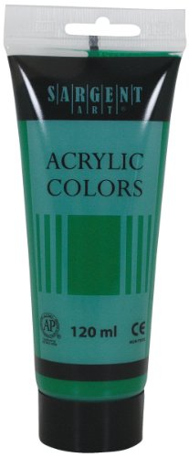 Sargent Art 23-0374 120Ml Tube Acrylic Paint, Emerald Green