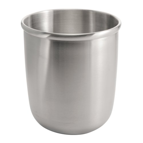 InterDesign Nogu Wastebasket Trash Can, Brushed Stainless Steel (Stainless Waste Can compare prices)