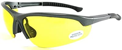 UV Protecting Adjustable Safety Glasses Yellow Tint,7821