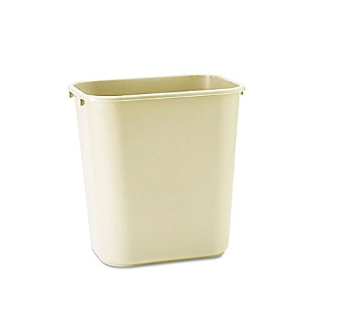 Rubbermaid Commercial Plastic 7-Gallon Trash Can, Beige (Trash Can Rubbermaid compare prices)