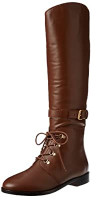 Marc by Marc Jacobs Women's Lace Up Tall Flat Boot,Pecan,39 EU/9 M US