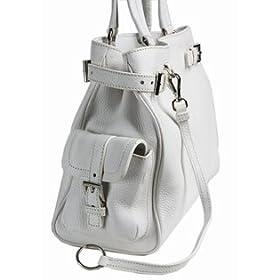 Prada BR2958 - Leather Tote White Prada Handbag