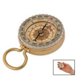 SE CC50B Glow-in-the-Dark Brass Compass