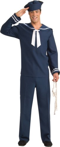 Men's Blue Sailor Uniform Halloween Costume