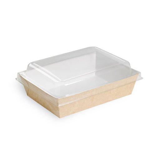 "PacknWood Paper Salad Box, 6.69"" x 4.80"" x 1.77"", Brown (Pack of 200)"