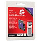 Brand New. 5 Star Compatible Inkjet Cartridge Page Yield 400pp Yellow [Brother LC1000Y Equivalent]