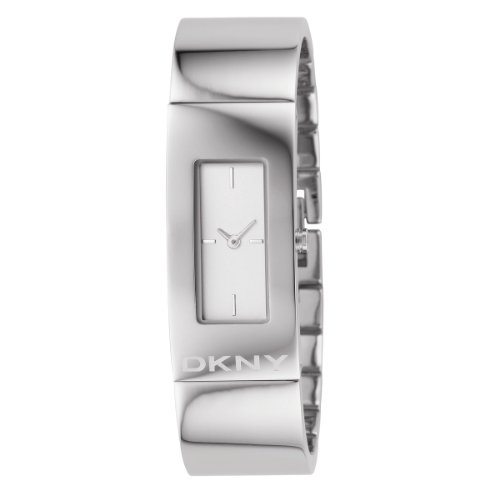 DKNY Ladies Stainless Steel Bangle Watch With White Dial