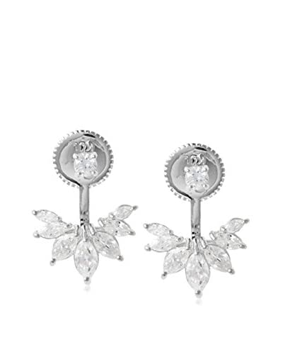 Jardin Cz Stud, Cz Ear Lobe Hugger with Marquise Cz Post Earrings