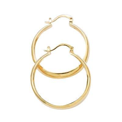 18K Gold Plated 40 mm Creole Hoop Earrings