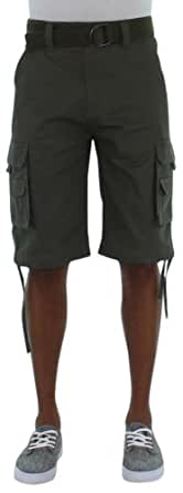 MO7 Most Official Seven Men's Cargo Shorts Thick Cotton Green Size 38