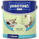 Johnstones No Ordinary Paint Water Based Interior Soft Sheen Emulsion Lime Crush 2.5 Litre