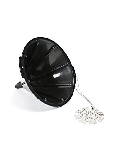 Charcoal Companion Black Plastic Oil Funnel with Metal Filter