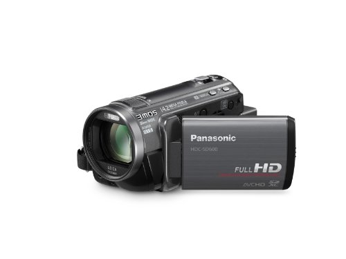 Panasonic HDC-SD600K 3MOS High-Def Camcorder with 35mm Wide-Angle Lens and 18x Intelligent Zoom