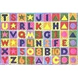 Fun Time Numbers & Letters 51x78 Play Time Nylon Area Rug FT-2011-P 5178