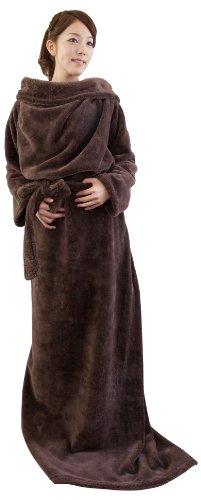mofuaモフア 袖付きマイクロファイバー毛布(帯付)(NT) フリー ブラウン 40026606