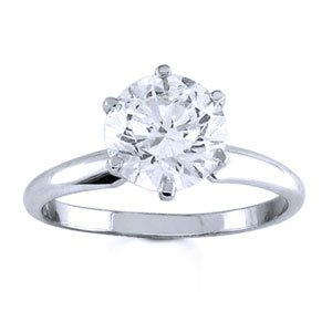 Platinum Round Diamond Solitaire Engagement Ring (2.00 ct)