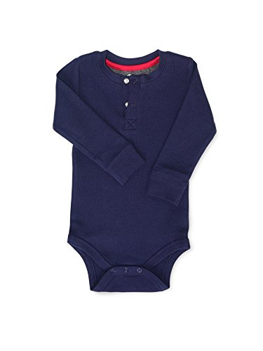 Colored Organics Baby Boys Ty Thermal Organic Bodysuit - Admiral - 18-24M (Baby Thermal Bodysuits compare prices)