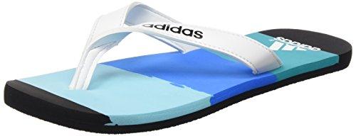 adidas Eezay Striped, Infradito uomo, Multicolore Azul / Blanco / Azul (Azuimp / Ftwbla / Briazu), 40 2/3