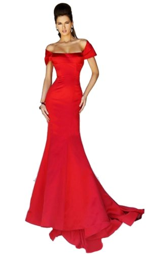 IBEAUTY DRESS Sexy Strapless Long Slim Mermaid Dress Red US 0