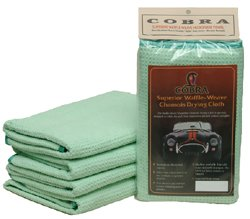 3 Pack Cobra Microfiber Waffle Weave Satin Edge Drying Towel 16 x 24 (Weave Edges compare prices)