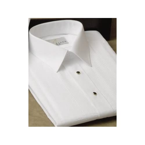 Tuxedo Shirt - Laydown Collar 1/8 Inch Pleat Laydown Collar