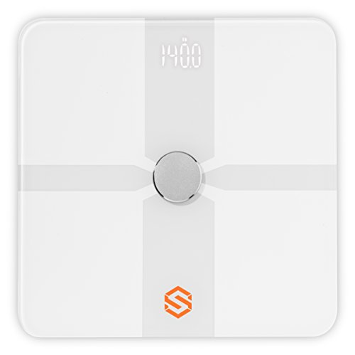 STYR Labs Wireless Bluetooth Weight Body Fat Smart Scale and Protein Starter Kit - Free Fitness App (IOS and Android)