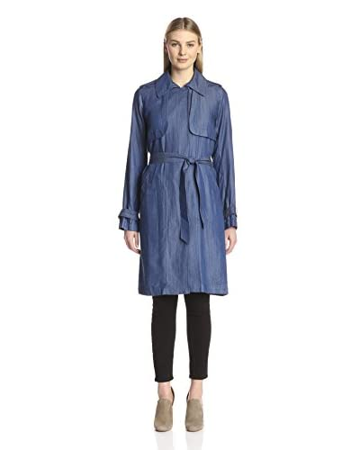 Vince Camuto Women's Chambray Fluid Trench