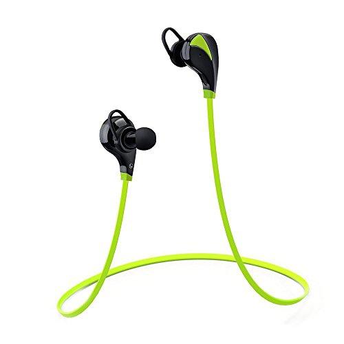 [Oreillette Bluetooth 4.0 & 1-an de Garantie]VicTsing Casque de Sport Bluetooth 4.0 Ecouteurs sans fil Stéréo de Sports Course Oreillette d'Exercice avec Microphone Isolation du Bruit pour iPhone 6S 6Plus 6 5S iPad,Samsung Galaxy S6 S5 S4 Note 5 Note 4 et d'autres Appareils Bluetooth (Vert)