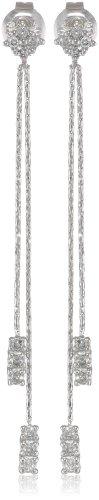 10k White Gold Diamond Drop Earrings…