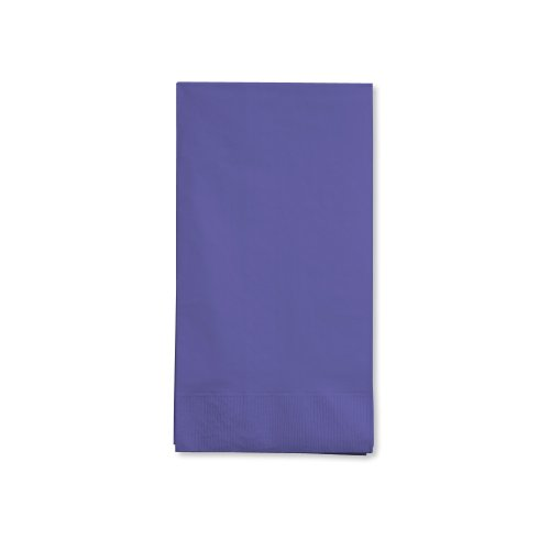 Creative Converting Touch of Color 16 Count 3-Ply Paper Guest Napkins, Purple
