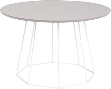 Table basse ronde moderne plateau parme Filaire