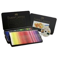 FABER-CASTELL POLYCHROMOS Artist Color Pencils Metal Tin Of 120 With CD 110011