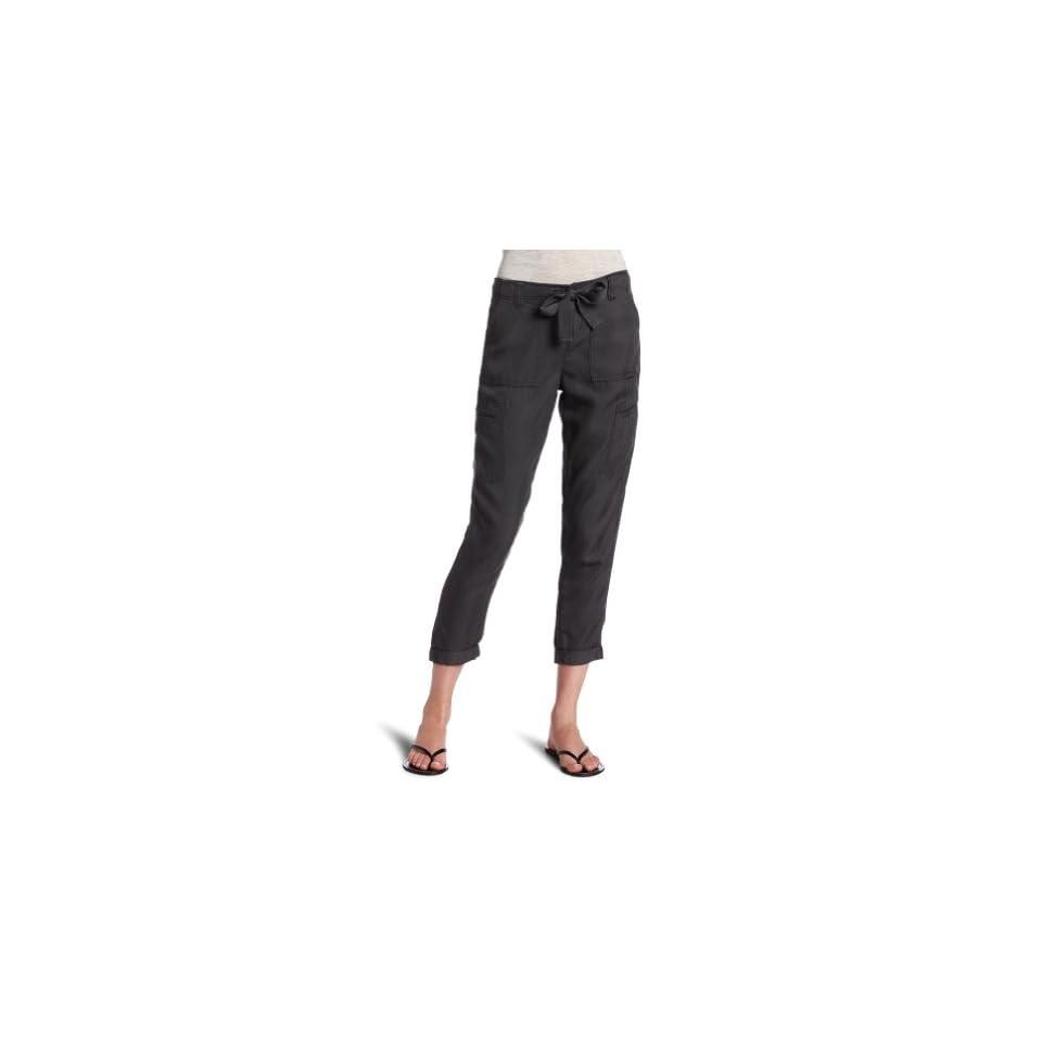 Calvin Klein Jeans Womens Petite Flowy Cargo Pant, Phantom, 2
