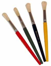 Hogs Hair Childrens Paint Brushes- Pack of 4 size 18 | Children ...
